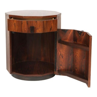 Harvey Probber Rosewood Decagon Dry Bar For Sale