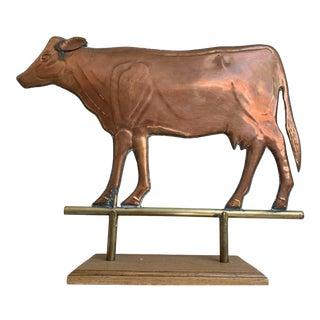 Copper Farm Cow Accent Piece For Sale