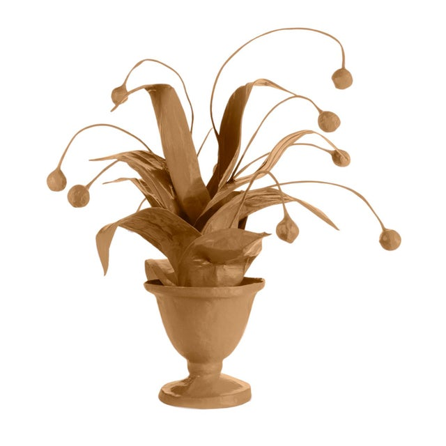 Contemporary Stray Dog Designs for Chairish Crunchberry Faux Plant, Camel For Sale - Image 3 of 3