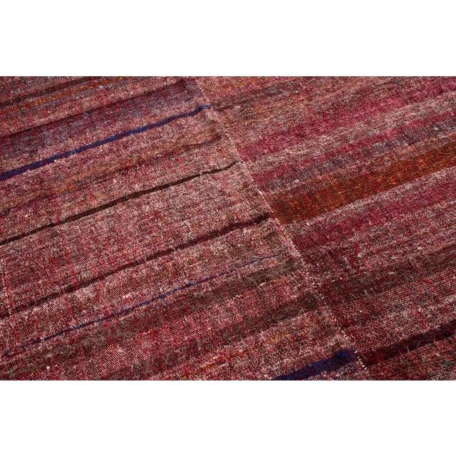 Mid 20th Century Vintage Mid-Century Striped Wool Kilim Rug - 5′6″ × 8′11″ For Sale - Image 5 of 6