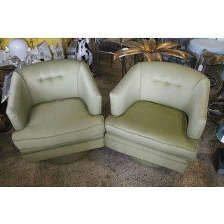 Vintage Milo Baughman Swivel Tub Chairs - A Pair Preview