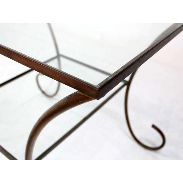 Early 20th Century Deco Style Solid Brass Serving Console Hall Table circa 1930s For Sale - Image 5 of 7
