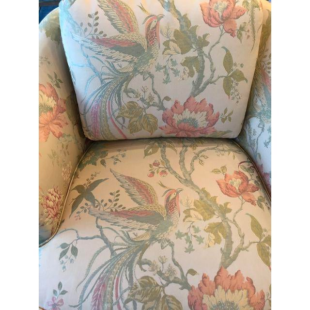 Vintage Pastel Tropical Birds Club Lounge Chairs - a Pair For Sale - Image 9 of 11