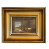 Image of Original Oil Painting of Sheep For Sale
