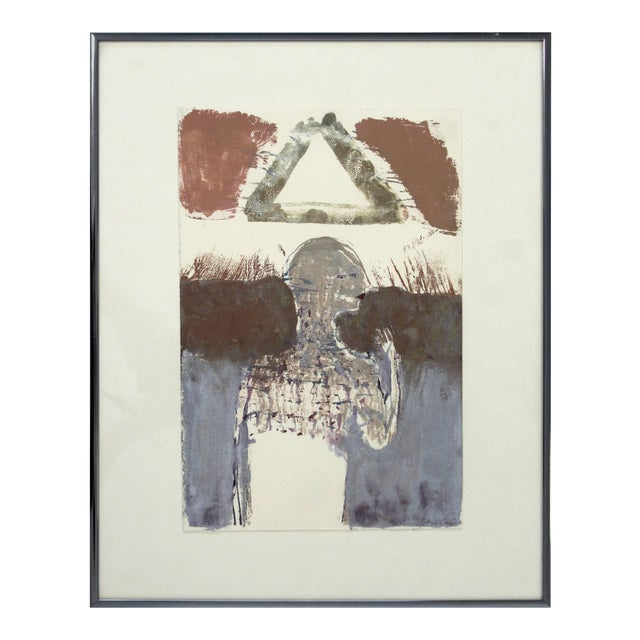 Contemporary Framed Signed Sean Scully Aquatint Etching Signed Surrealist For Sale