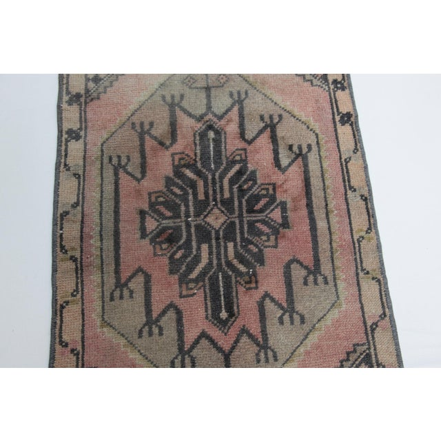 1960s 1960s Vintage Turkish Handmade Rug - 1′7″ × 2′9″ For Sale - Image 5 of 11