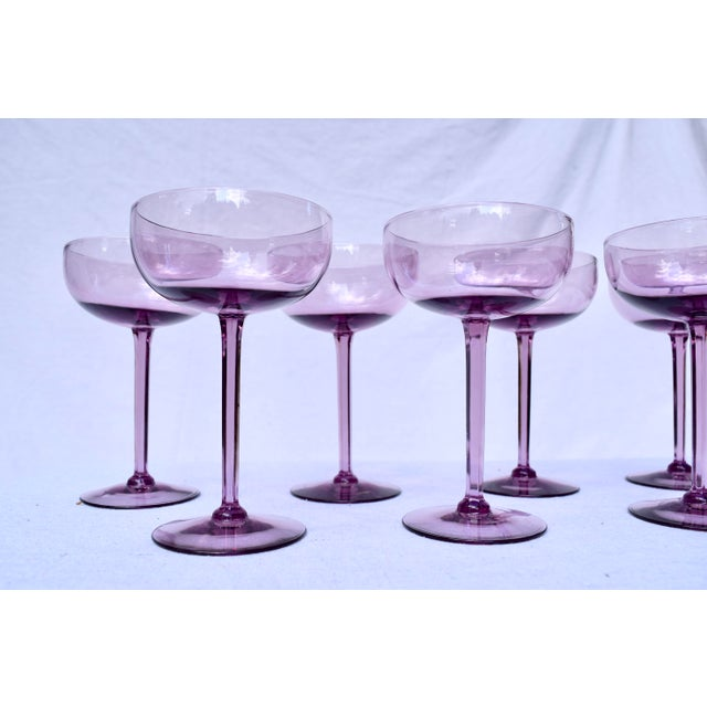 Amethyst Crystal Champagne Coupes For Sale - Image 4 of 7