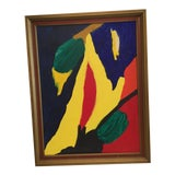 Image of 1970s Vintage Unsigned Abstract Painting For Sale