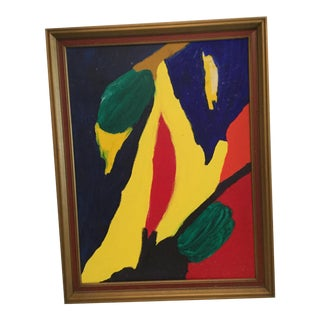 1970s Vintage Unsigned Abstract Painting For Sale