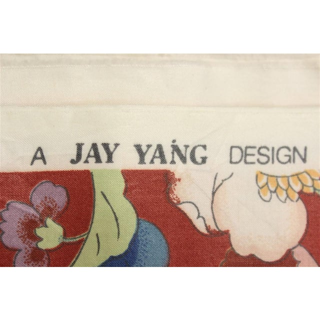 Jay Yang Glazed Chintz Floral Fabric For Sale - Image 5 of 5