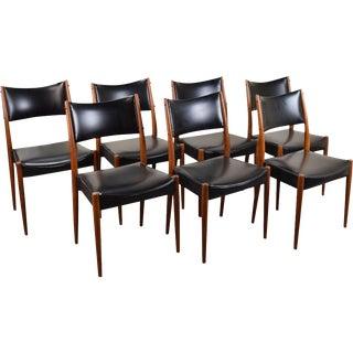 Vintage Mid-Century Danish Modern Teak Dining Chairs - Set of 7