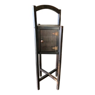 Antique Arts & Crafts Smoking Stand Humidor For Sale