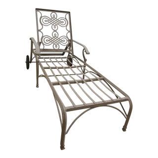 Landgrave Cast Classics Woodard Outdoor Patio Porch Chaise Lounge Settee For Sale
