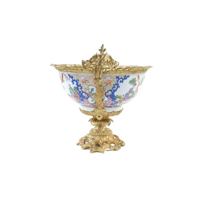White French Chinoiserie Gilt Bronze Mounted Bowl For Sale - Image 8 of 9