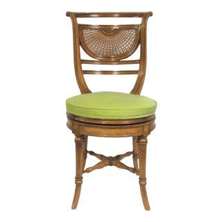 Louis XVI Fruitwood Swivel Vanity Chair For Sale
