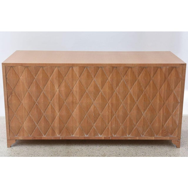 Cerused Oak Four-Door Buffet or Credenza, Jamie Herzlinger For Sale In Miami - Image 6 of 11