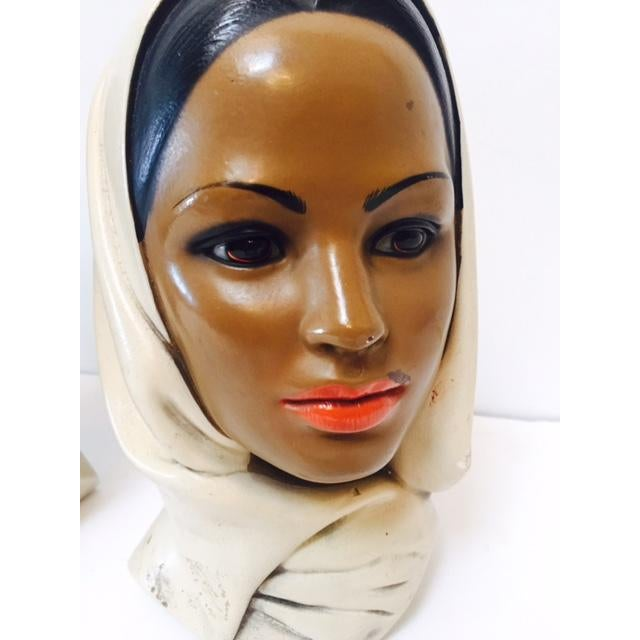 Marwal Arab Female Busts - A Pair - Image 4 of 5