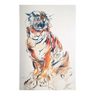 Tiger Original Oil Painting by Robin Willis For Sale