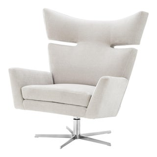 Sand Upholstered Wingback Chair | Eichholtz Eduardo For Sale