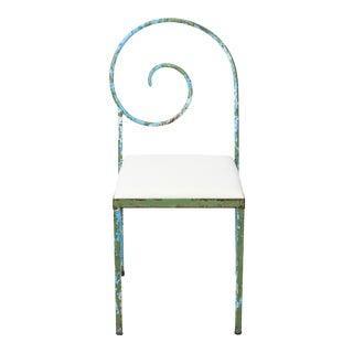Luigi Serafini Style Scroll Back Suspiral Chairs for Garden For Sale