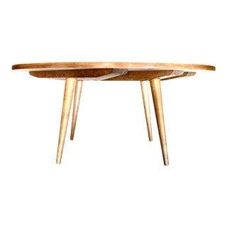 1950s Paul McCobb Planner Group Round Maple Coffee Table For Sale