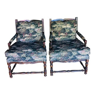 Cal Mode Ladder Back Chairs - A Pair For Sale