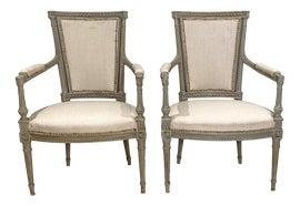 Image of Gustavian (Swedish) Bergere Chairs