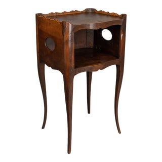 1930s French Louis XV Style Walnut Side Table For Sale