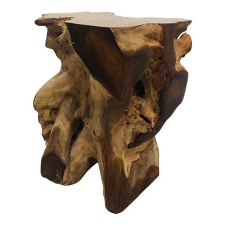 1990s Boho Chic Wooden Root Table For Sale
