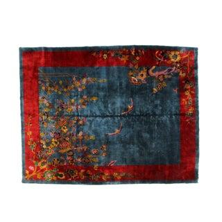 "Leon Banilivi Antique Art Deco Chinese Carpet - 8'9"" X 11'4"" For Sale"