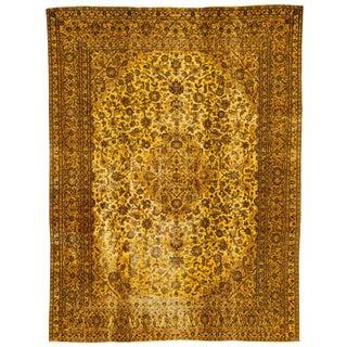 """Apadana - Vintage Overdyed Tabriz Rug, 9'2"""" X 12'2"""""""