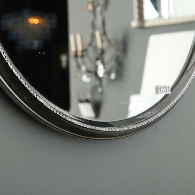 Mid-Century Round Silver Mirrors - A Pair - Image 5 of 6