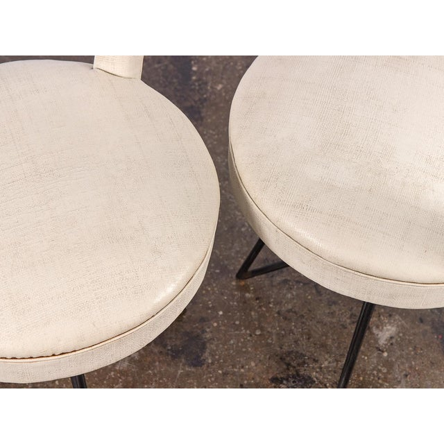 White 1950s Occasional Side Chairs - A Pair For Sale - Image 8 of 10