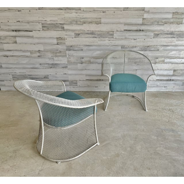 Mid Century Wire Formed Patio Set For Sale - Image 9 of 13