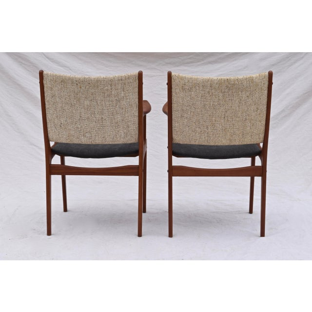 Mid 20th Century Danish Modern Dining Chairs by Johannes Andersen- Set of 6 For Sale - Image 5 of 11