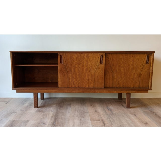 Mid-Century Modern 1960's Dyrlund Teak 3-Door Credenza/Sideboard For Sale - Image 3 of 13