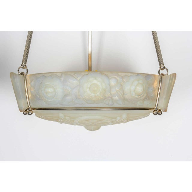 Marius-Ernest Sabino French Art Deco Chandelier by Sabino For Sale - Image 4 of 8