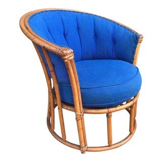 1940s Vintage Heywood Wakefield AshCraft Barrel Chair For Sale
