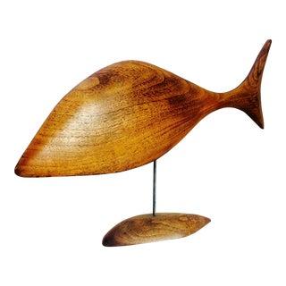 Danish Modern Abstract Fish Sculpture