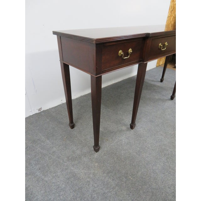 Hepplewhite Madison Square Solid Mahogany Sideboard For Sale - Image 9 of 10