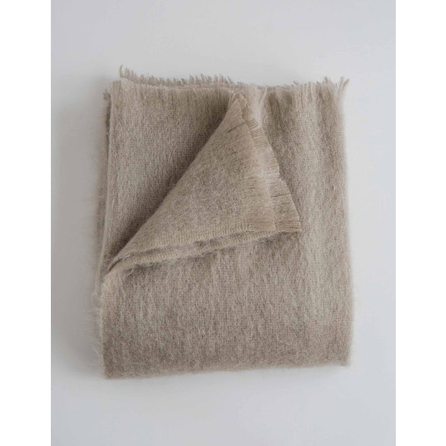 Mohair Throw in Ash For Sale - Image 13 of 13