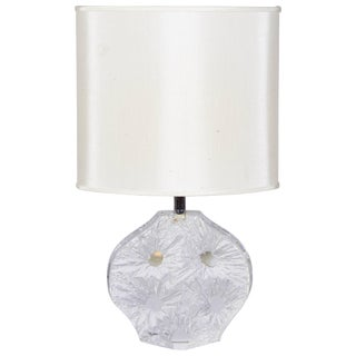 1970s Daum France Abstract Crystal Base Table Lamp For Sale