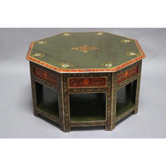 Painted Wooden Coffee Table For Sale In Los Angeles - Image 6 of 6