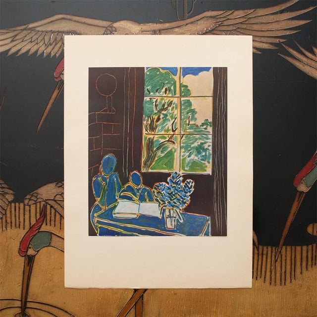 French 1947 Henri Matisse, Original Period Interieur Lithograph For Sale - Image 3 of 8