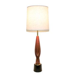 Mid-Century Modern Teak Lamp by Laurel