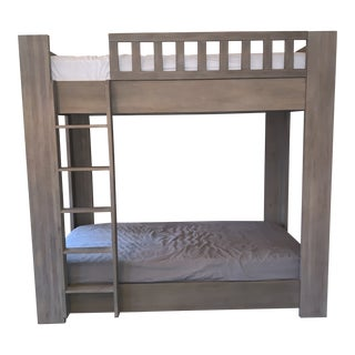 Sandwashed Grey Wood Bunk Bed For Sale