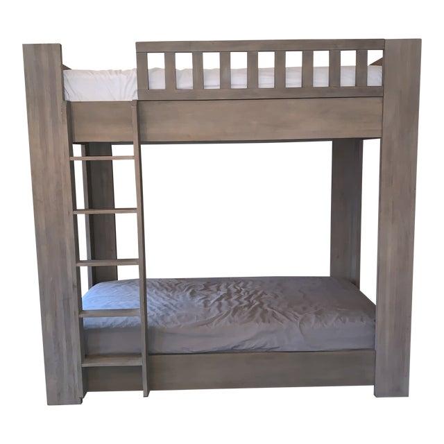 Sandwashed Grey Wood Bunk Bed For Sale