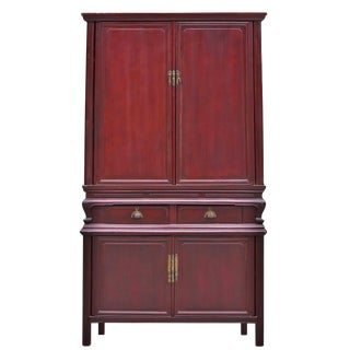 19th Century Traditional 2-Tier Plum Cabinet