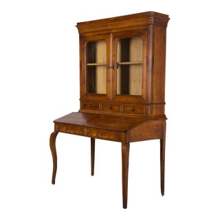 Late 19th Century Antique French Country Style Slant Top Desk For Sale
