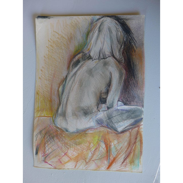 Thinking of You, Pastel on Paper Drawing - Image 2 of 4